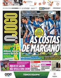 capa Jornal O Jogo de 4 novembro 2019