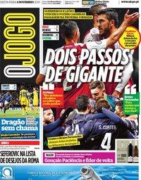 capa Jornal O Jogo de 8 novembro 2019