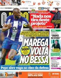 capa Jornal O Jogo de 9 novembro 2019
