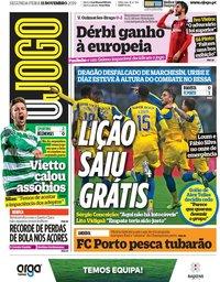 capa Jornal O Jogo de 11 novembro 2019