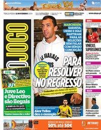 capa Jornal O Jogo de 12 novembro 2019