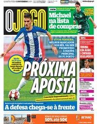 capa Jornal O Jogo de 13 novembro 2019