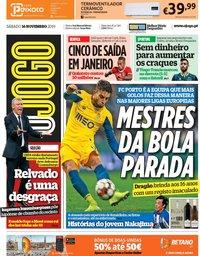 capa Jornal O Jogo de 16 novembro 2019