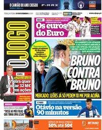 capa Jornal O Jogo de 19 novembro 2019