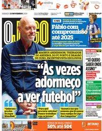 capa Jornal O Jogo de 23 novembro 2019