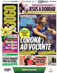 capa Jornal O Jogo de 25 novembro 2019