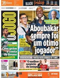 capa Jornal O Jogo de 30 novembro 2019