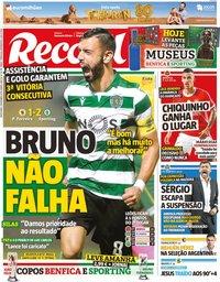 capa Jornal Record de 1 novembro 2019