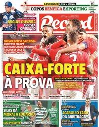 capa Jornal Record de 2 novembro 2019