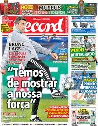 capa Jornal Record de 5 novembro 2019