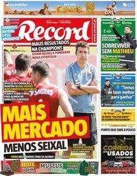 capa Jornal Record de 7 novembro 2019