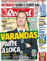 capa Jornal Record de 9 novembro 2019