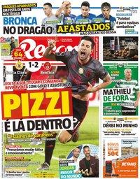 capa Jornal Record de 10 novembro 2019