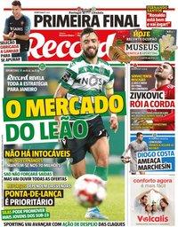 capa Jornal Record de 14 novembro 2019