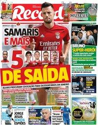 capa Jornal Record de 22 novembro 2019