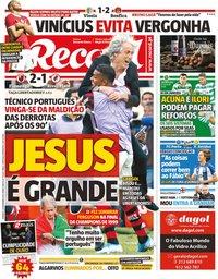 capa Jornal Record de 24 novembro 2019