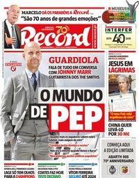 capa Jornal Record de 26 novembro 2019