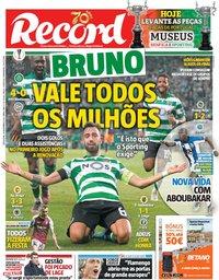 capa Jornal Record de 29 novembro 2019