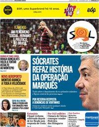 capa Jornal SOL de 2 novembro 2019