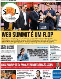 capa Jornal SOL de 9 novembro 2019