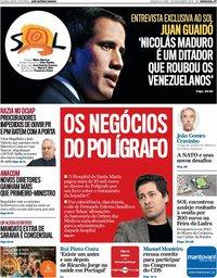 capa Jornal SOL de 16 novembro 2019