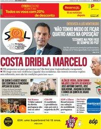 capa Jornal SOL de 30 novembro 2019
