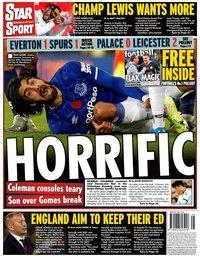 capa Jornal Star Sport de 4 novembro 2019