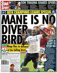 capa Jornal Star Sport de 7 novembro 2019