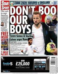 capa Jornal Star Sport de 16 novembro 2019