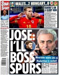 capa Jornal Star Sport de 20 novembro 2019