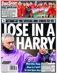 capa Jornal Star Sport de 21 novembro 2019