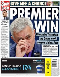 capa Jornal Star Sport de 22 novembro 2019