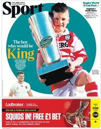 capa Jornal Times Sport de 2 novembro 2019
