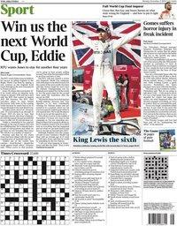 capa Jornal Times Sport de 4 novembro 2019