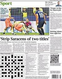 capa Jornal Times Sport de 7 novembro 2019