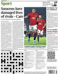 capa Jornal Times Sport de 8 novembro 2019