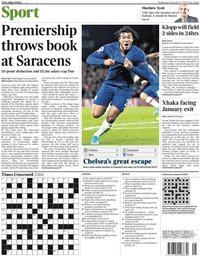 capa Jornal Times Sport de 9 novembro 2019