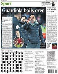 capa Jornal Times Sport de 11 novembro 2019