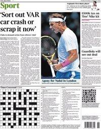 capa Jornal Times Sport de 12 novembro 2019