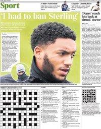 capa Jornal Times Sport de 13 novembro 2019