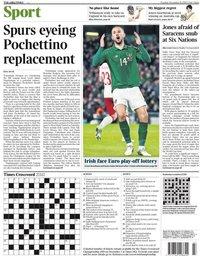 capa Jornal Times Sport de 19 novembro 2019