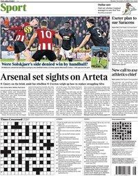 capa Jornal Times Sport de 25 novembro 2019