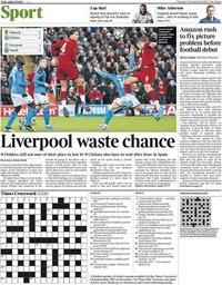 capa Jornal Times Sport de 28 novembro 2019