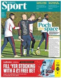 capa Jornal Times Sport de 30 novembro 2019