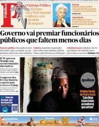 capa Público de 1 novembro 2019