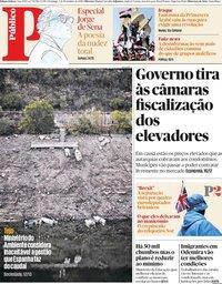 capa Público de 3 novembro 2019