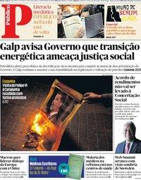 capa Público de 5 novembro 2019