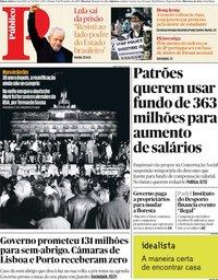 capa Público de 9 novembro 2019