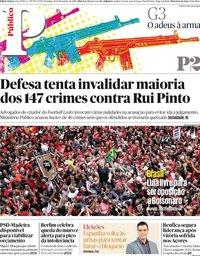 capa Público de 10 novembro 2019