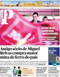 capa Público de 11 novembro 2019